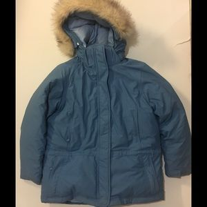 L.L. Bean Hooded Goose Down Coat szMed petite